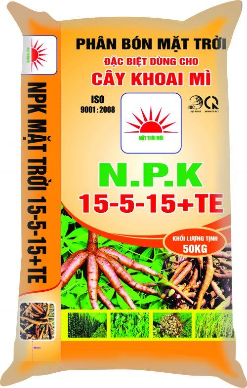 NPK 15-5-15+TE (CD CÂY KHOAI MÌ)